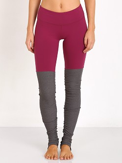 alo Goddess Ribbed Legging Berry/Stormy Heather