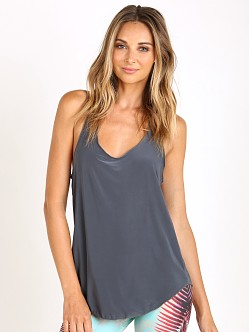 Onzie Glossy Flow Tank Charcoal