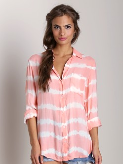 Bella Dahl Shirt Tail Button Down Papaya