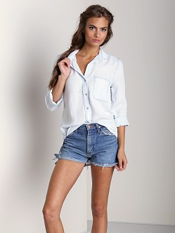 Bella Dahl Shirt Tail Button Down Sadow Seams