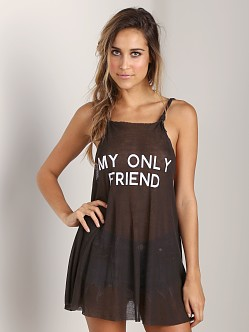 WILDFOX Wilson Wrecked Tank Dirty Black
