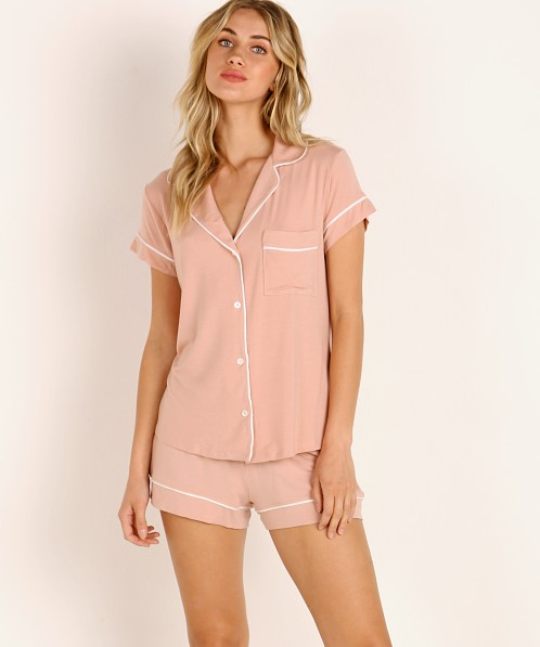Eberjey Gisele Short PJ Boxed Set Misty Rose/Ivory