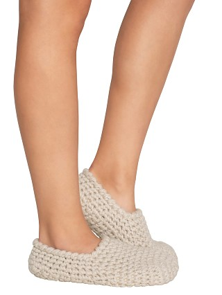 Eberjey The Ankle Slipper Sock White Sand