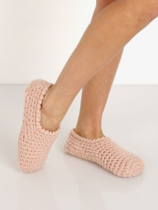 Eberjey The Ankle Slipper Sock Rose Smoke