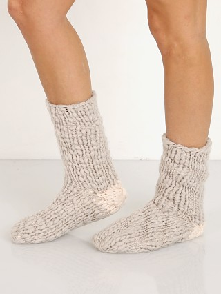 Eberjey The Scout Slipper Sock Moonbeam + Ivory