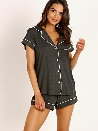 Eberjey Gisele Short PJ Boxed Set Charcoal Heather/Bellini