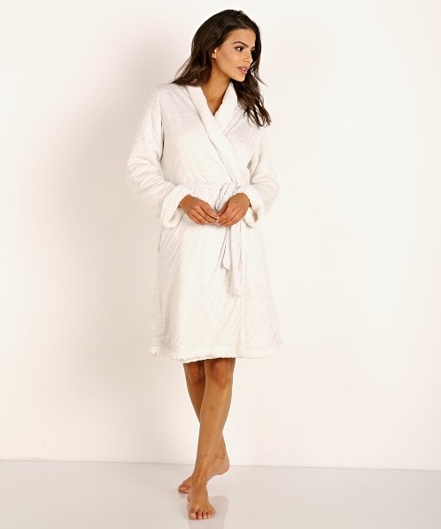 Eberjey Alpine Chic Aspen Robe Light Heather Grey