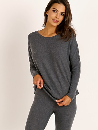 Eberjey Cozy Time Cozy Top Charcoal Heather