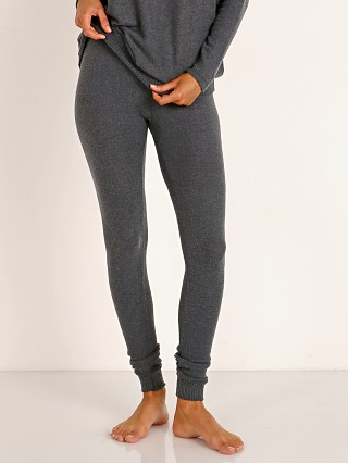 Model in charcoal heather Eberjey Cozy Time Cozy Legging