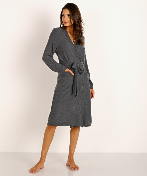 Eberjey Cozy Time Cozy Robe Charcoal Heather