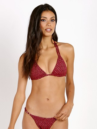 Model in como Beach Riot + Stone Cold Fox Risa Bikini Top