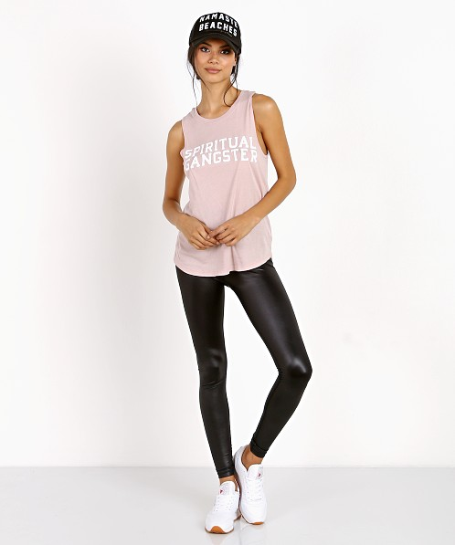 0233f94879e99 Spiritual Gangster SG Varsity Muscle Tank Shell Pink SU70411004 - Free  Shipping at Largo Drive