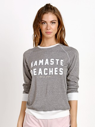 Spiritual Gangster Namaste Beaches Boyfriend Sweatshirt Heather