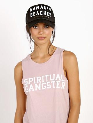 Spiritual Gangster Namaste Beaches Trucker Hat Black