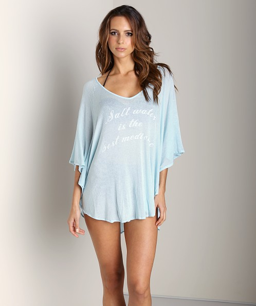 WILDFOX Butterfly Tunic Salt Water Blue Glow