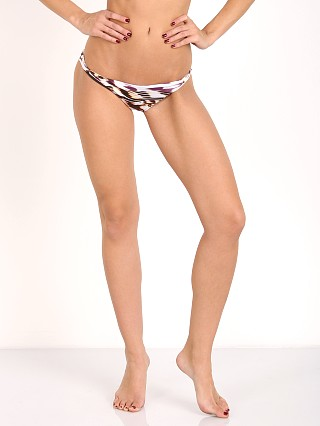 Vitamin A Samba Ruched Back Bikini Bottom La Plume Print