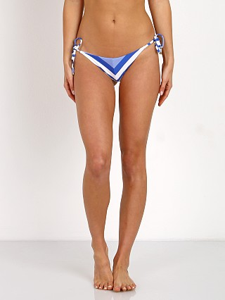 Vitamin A New Natalie Miter Stripe Bikini Bottom Sapphire Beach