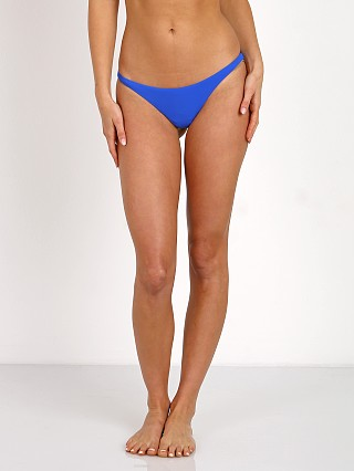 Complete the look: Vitamin A Samba Ruched Back Bikini Bottom Azure
