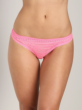 Stella McCartney Magnolia Shrugging Thong Neon Pink