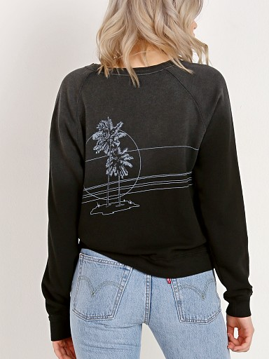 All Things Fabulous Late Sunset Sweater Black