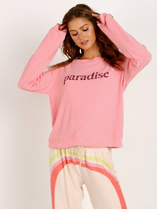 Model in pink All Things Fabulous Paradise Sweater