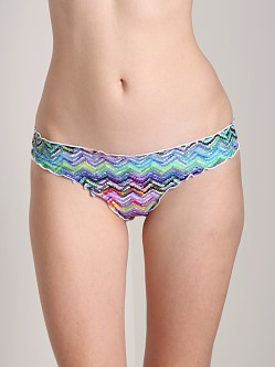 CA by Vitamin A Caylie Rio Ruffle Scoop Bikini Bottom Mint