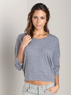 Nation LTD Oceanside Pullover Heather Grey