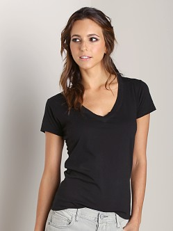 Nation LTD Classic V Neck Tee Black