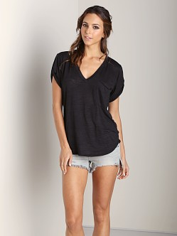 Nation LTD Lake Tahoe Deep V Tee Black