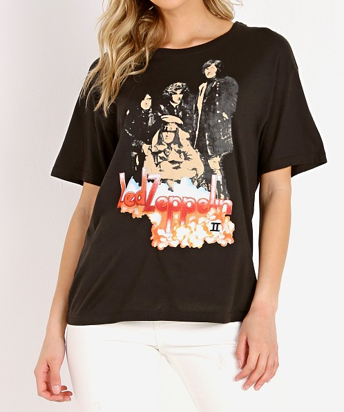 Daydreamer Led Zeppelin Clouds Tee Ash Black