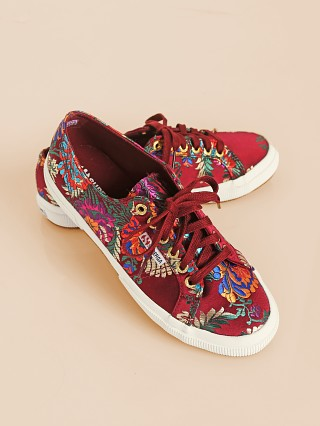 Superga 2750 Mandarin Embroidery Bordeaux