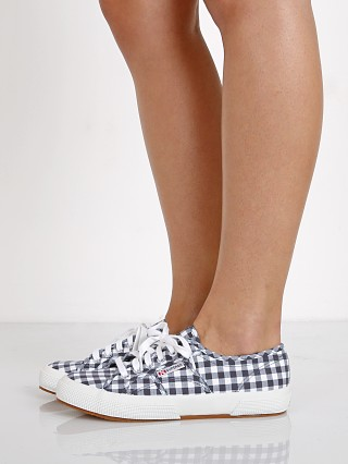 Superga 2750 Gingham Sneaker Navy