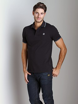 G-Star RCT Slim Stripe Polo Shirt Black
