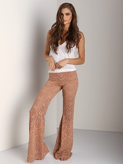 Nightcap Spanish Fan Lace Pant Blush