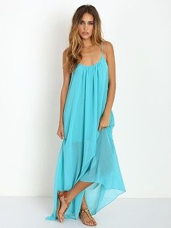 Show Me Your Mumu Trapeze Maxi Dress Turqoise