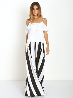 Show Me Your Mumu Princess Di Ballgown Black & White Stripe