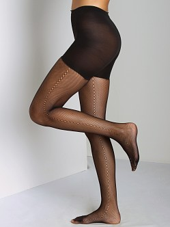 SPANX Side Seam Fishnet Black