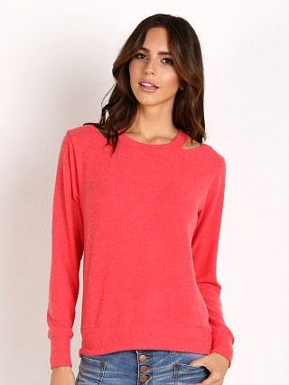 LNA Clothing Bolero Cut Out Sweater Red