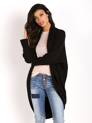 LNA Clothing Oversized Cocoon Wrap Black