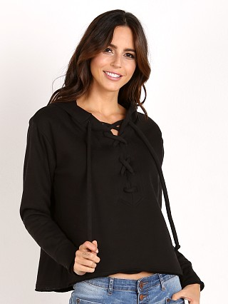 LNA Clothing Lace Up Hoodie Black