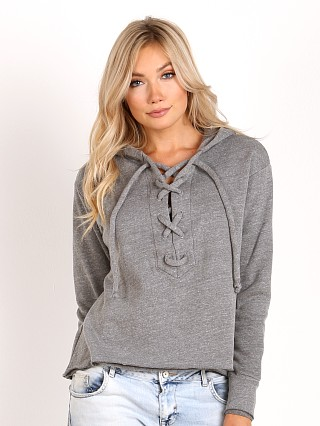 LNA Clothing Lace Up Hoodie Grey