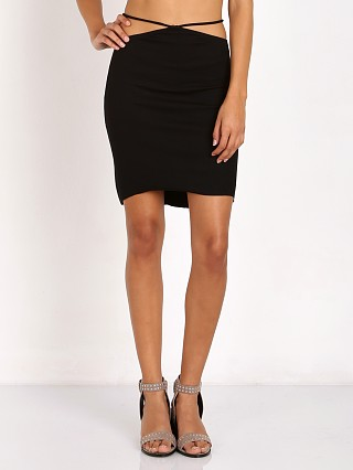 Indah Bridgette Spaghetti Waist Mini Skirt Black