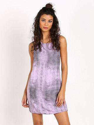 Indah Juno T-Back Easy Shift Mini Dress Lilac Crocodile
