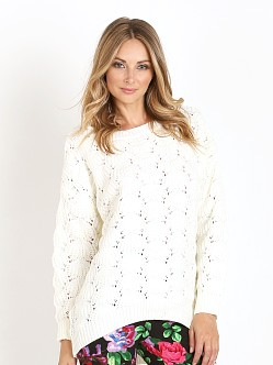 MinkPink Paper Plans Sweater Cream