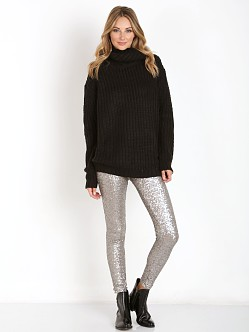 MinkPink Another Night Sweater Black