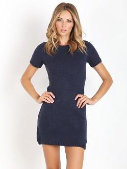 MinkPink Young Hearts Dress Navy