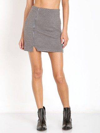 MinkPink Take Care Skirt Charcoal Marle