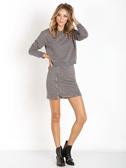 MinkPink Take Care Dress Charcoal Marle