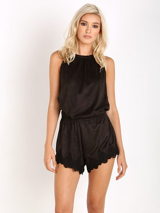 Complete the look: Winston White Riko Romper Black Vegan Suede