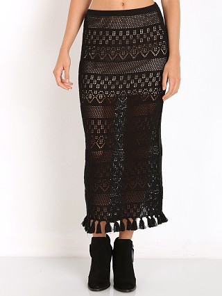 Winston White Cyprus Skirt Black Crochet